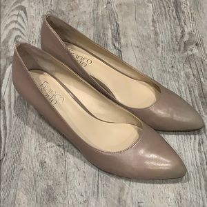 Franco Sarto small wedge nude shoes- size 8
